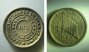 1863 Civil War Token found metal detecting